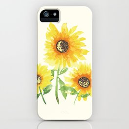 Watercolor Sunflowers iPhone Case