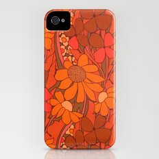 Vintage floral linen fabric  Slim Case iPhone (4, 4s)
