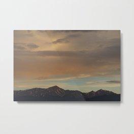 Rocky Mountain Sunset Metal Print
