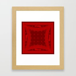 Morning Star (Red) Framed Art Print