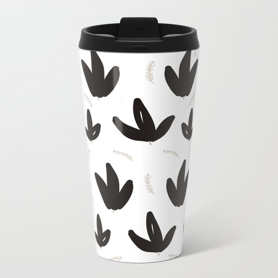 Black & White Nature Metal Travel Mug