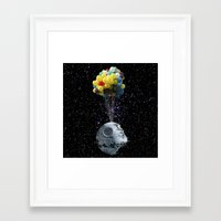 death star Framed Art Prints featuring Death Star by J Styles Designs