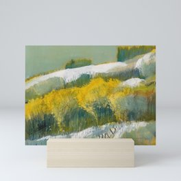First Snow Landscape Painting / Dennis Weber / ShreddyStudio Mini Art Print