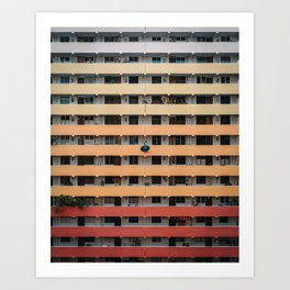 Gradient Building Art Print