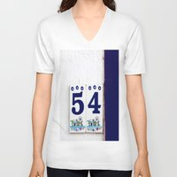 number V-neck T-shirts featuring door number by gzm_guvenc