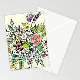 Floral Yellow Stationery Cards