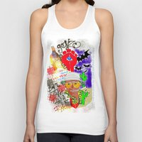 fear and loathing Tank Tops featuring GONZO Fear and Loathing Print by Just Bailey Designs