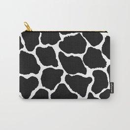 Trendy modern black white giraffe animal print Carry-All Pouch