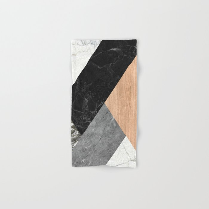 Marble and Wood Abstract Hand & Bath Towel