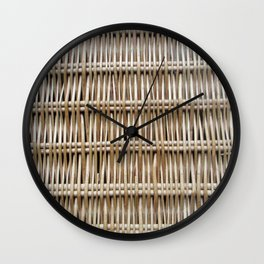 Wicker Weave Wall Clock
