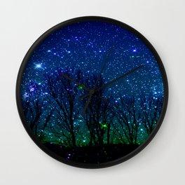 shining stars Wall Clock