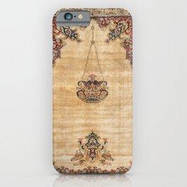 Tabriz  Antique North West Persian Silk Niche Rug Print iPhone Case