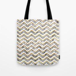 NEW Gold Chevron Tote Bag