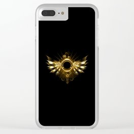 Mechanical Wings ( Steampunk Wings ) Clear iPhone Case