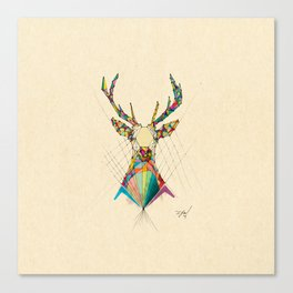 Illustrated Antelope Canvas Print