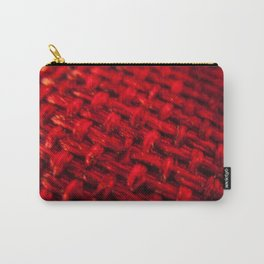 woven red fabric Carry-All Pouch