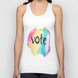 Vote rainbow Unisex Tank Top
