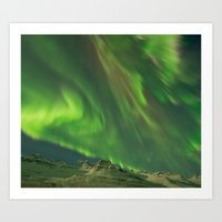 northern lights Art Prints featuring Northern Lights by From Flora With Love