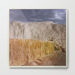 Shades of Pamukkale Metal Print