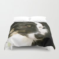 best friend Duvet Covers featuring Best Friend by Layton Zimmages