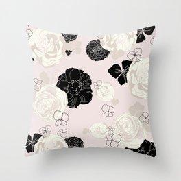 Fresh Florals Throw Pillow