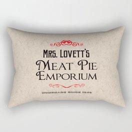 Mrs. Lovett's Meat Pie Emporium (Sweeney Todd) Rectangular Pillow