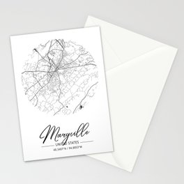 Maryville Area City Map, Maryville Circle City Maps Print, Maryville Black Water City Maps Stationery Cards