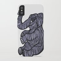 baby elephant iPhone & iPod Cases featuring Baby Elephant by Kate Shea