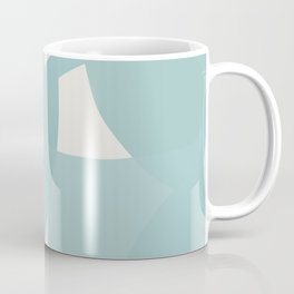 Abstract in dusty light blue and neutral shades Coffee Mug