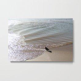 Low tide swirl Seascape Metal Print