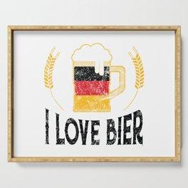 I Love Bier German Flag Beer Lover Oktoberfest Serving Tray