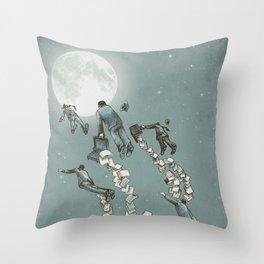Flight of the Salary Men (color option) Throw Pillow