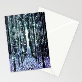 Magical Forest Lavender Aqua/Teal Stationery Cards