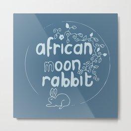 African Moon Rabbit Metal Print