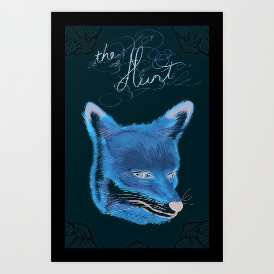 the hunt :: lace Art Print