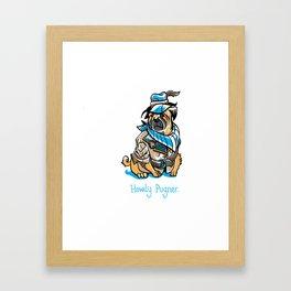 Howdy Pugner Framed Art Print