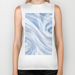 Blue Stripe on Blue Swirl Biker Tank