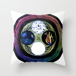 Space and Light Throw Pillow