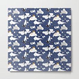 Arctic animals floating on icebergs Metal Print