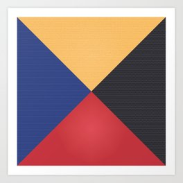 Primary Colors Triangles Art Print
