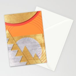 Gold, Silver, Orange and Coral Stationery Cards