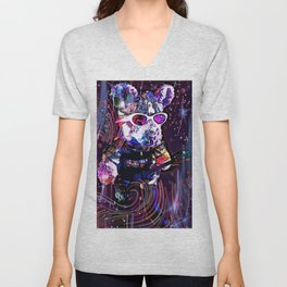 """""""Pinky the Pig's Guitar Solo in Space"""" Unisex V-Neck"""