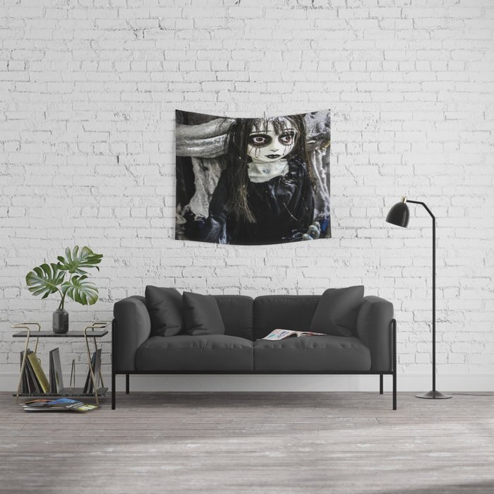 Goth Girl Wall Tapestry