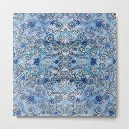Sapphire Swirls Metal Print