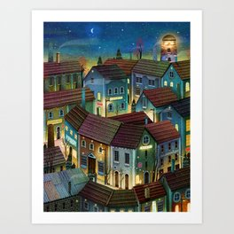 cozy night in the streets Art Print