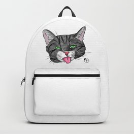 Grey Tabby Cat Face Backpack