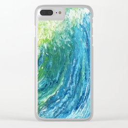 Waves in Acrylic Pouring Clear iPhone Case