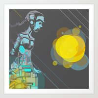 android Art Prints featuring Android by MozaicPieces