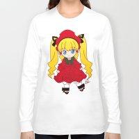 chibi Long Sleeve T-shirts featuring Chibi Shinku by Yue Graphic Design