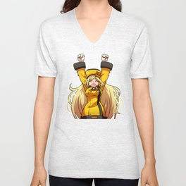 Millia Celebrates (A Little Too Early) Unisex V-Neck